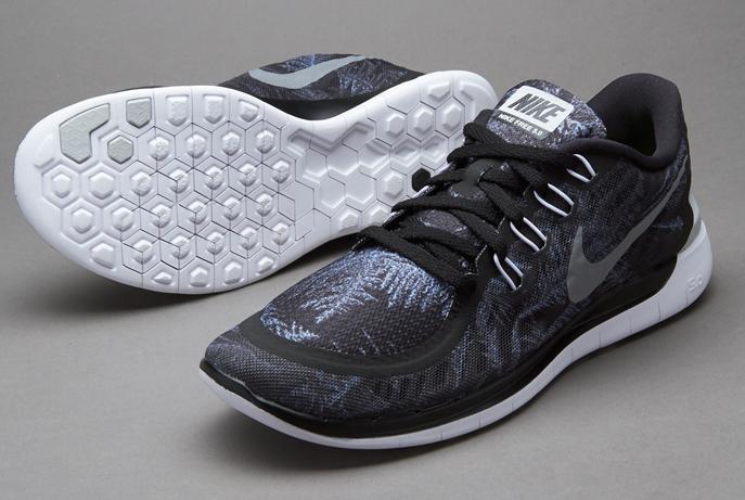 754e9b40b8d7 Nike Free 5.0 Solstice  Black Reflect Silver - Pure platium (Crystal ...