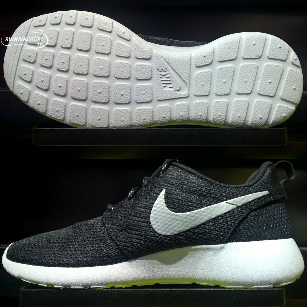 Nike Roshe One -Women - Black/ Metallic Platinum/ White 511882-094