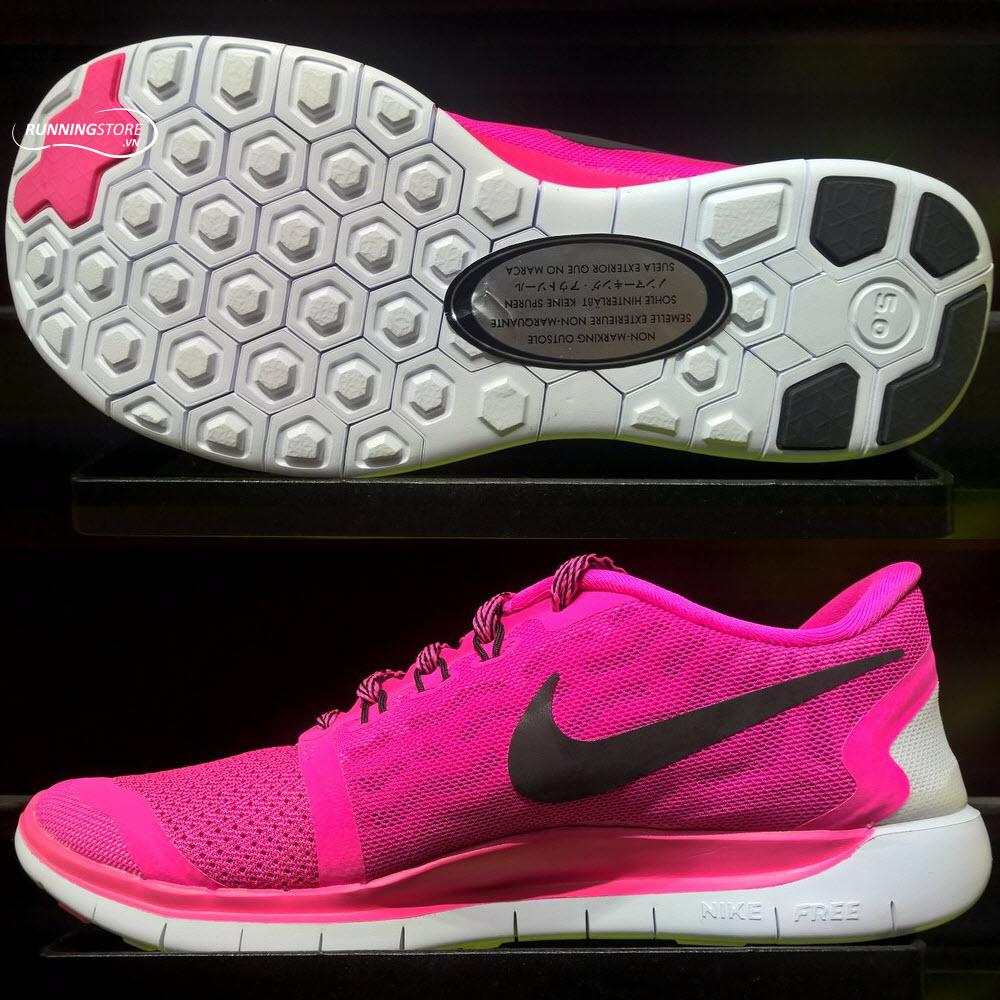 Nike Free 5.0- Pink Pow/ Black/ Vivid Pink/ White 725114-600