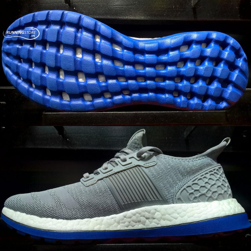 Adidas Pureboost ZG Prime- Mid Grey/ Solid Grey/ Blue AQ6762