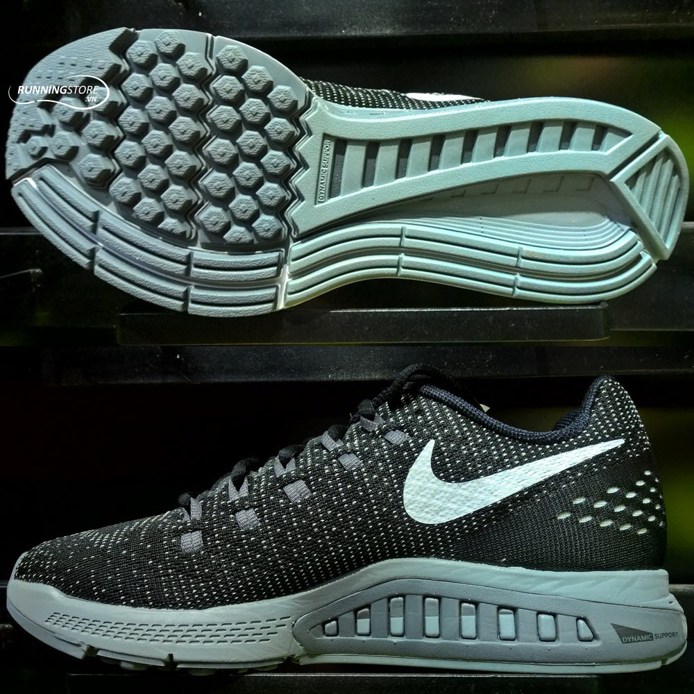 Nike Air Zoom Structure 19- Black/ Dark Grey/ Cool Grey/ White 806580-001
