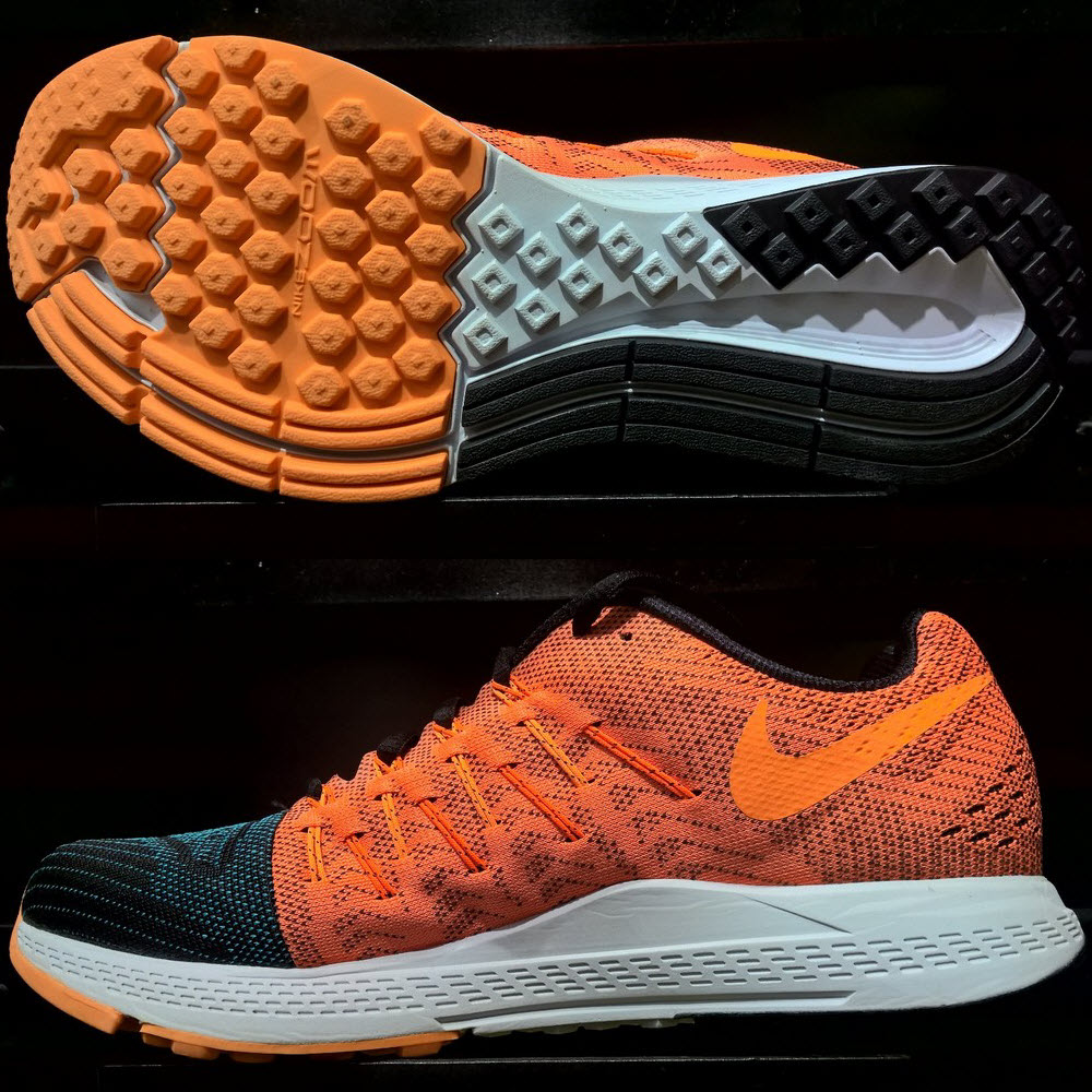 Nike Air Zoom Elite 8- Black/ Total Orange/ Bright Citrus 748588 008