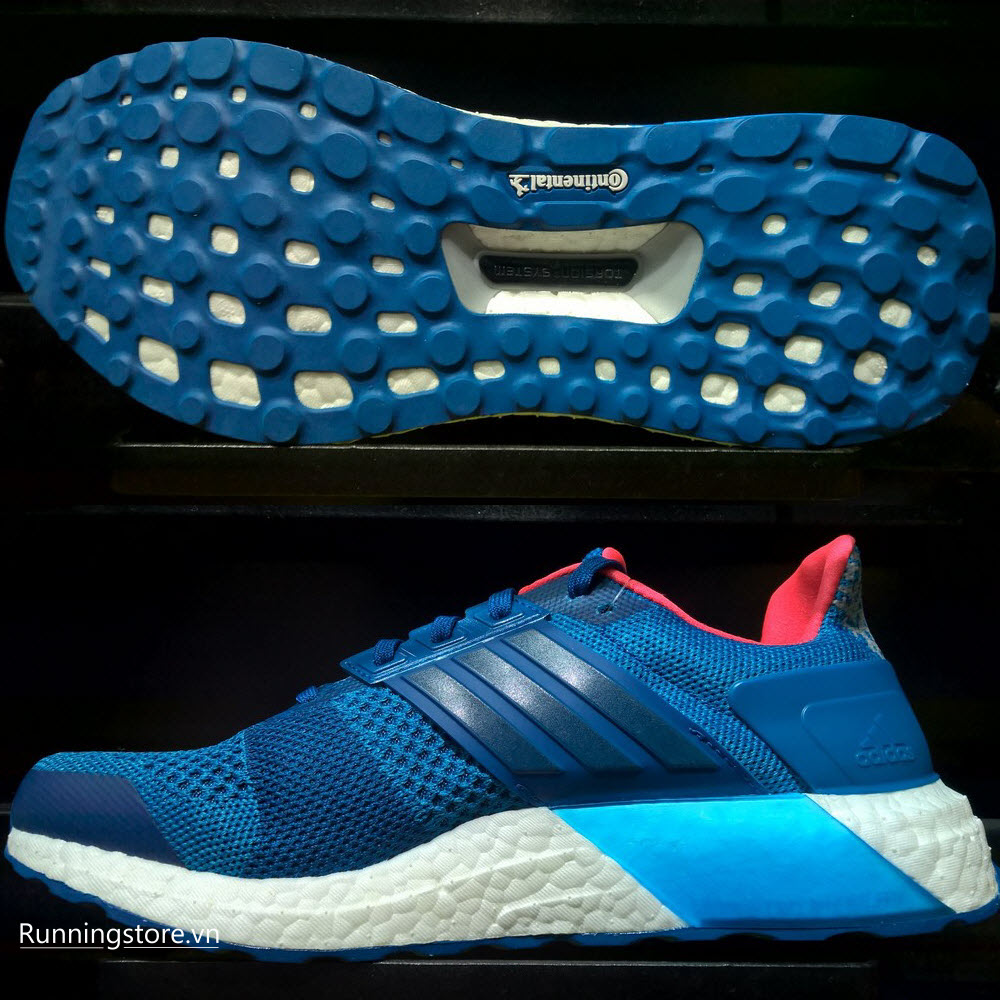 Adidas Ultraboost ST- Unity Blue F16/ Tech Steel F16/ Solar Red BB3932