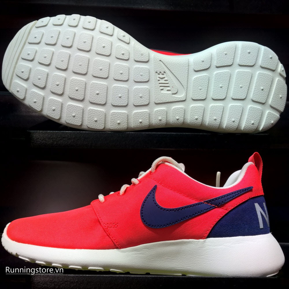Nike Roshe One Retro_ Women- Bright Crimson/ Loyal Blue 820200-641