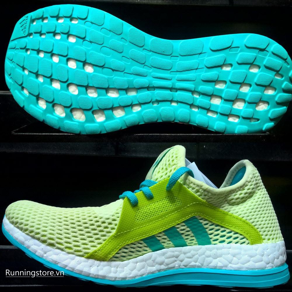 Adidas Pureboost X Women- Halo/ Shock Green/ Semi Solar Slime AQ6697