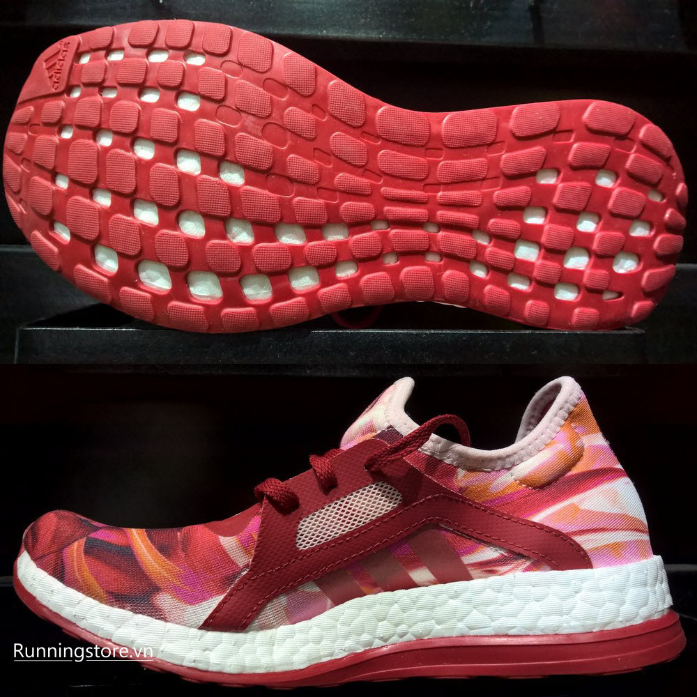 Adidas Pureboost X Women- Power Red/ Halo Pink AQ6694