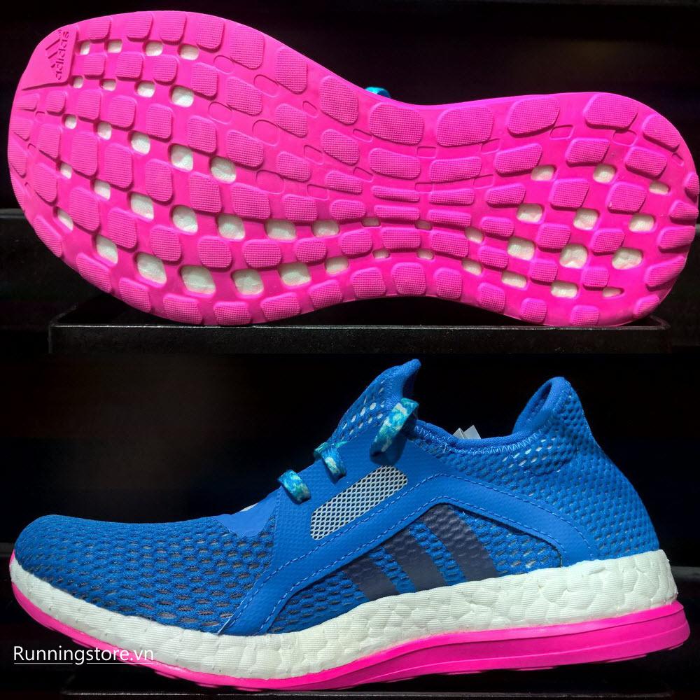 Adidas Pureboost X Women- Shock Blue/ Halo Blue/ Shock Pink AQ6698
