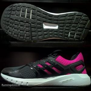 Adidas Duramo 8 Womens- Utility Black /Core Black/Shock Pink BB4668