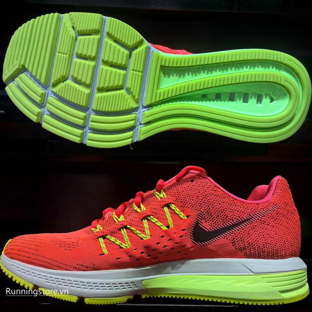 Nike Air Zoom Vomero 10- Bright Crimson/ Ghost Green/ Volt/Black 717440-603