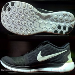 Nike Free 5.0- Black/ White/ Dark Grey 724382-002