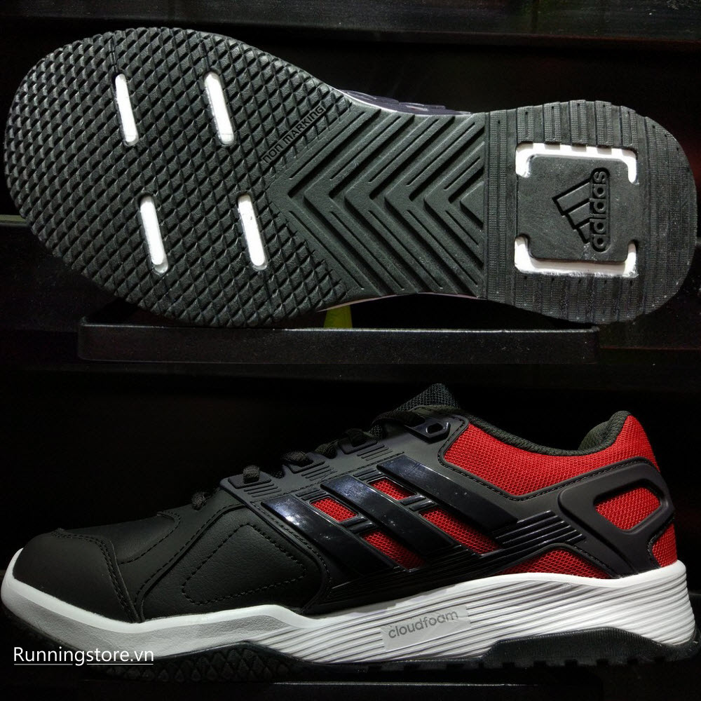 Adidas Duramo 8 Trainer- Core Black/ Footwear White/ Scarlet BB1746