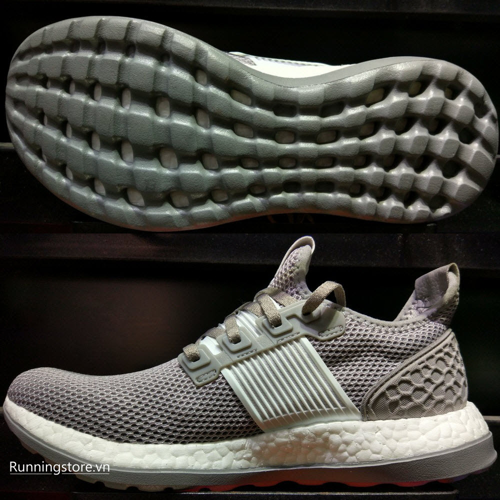 Adidas Pureboost ZG- Solid Grey/ Silver Metallic/ White BB3912