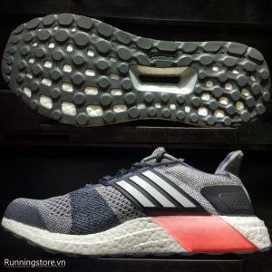Adidas Ultraboost ST- Grey/ Footwear White/ Core Red BA7839