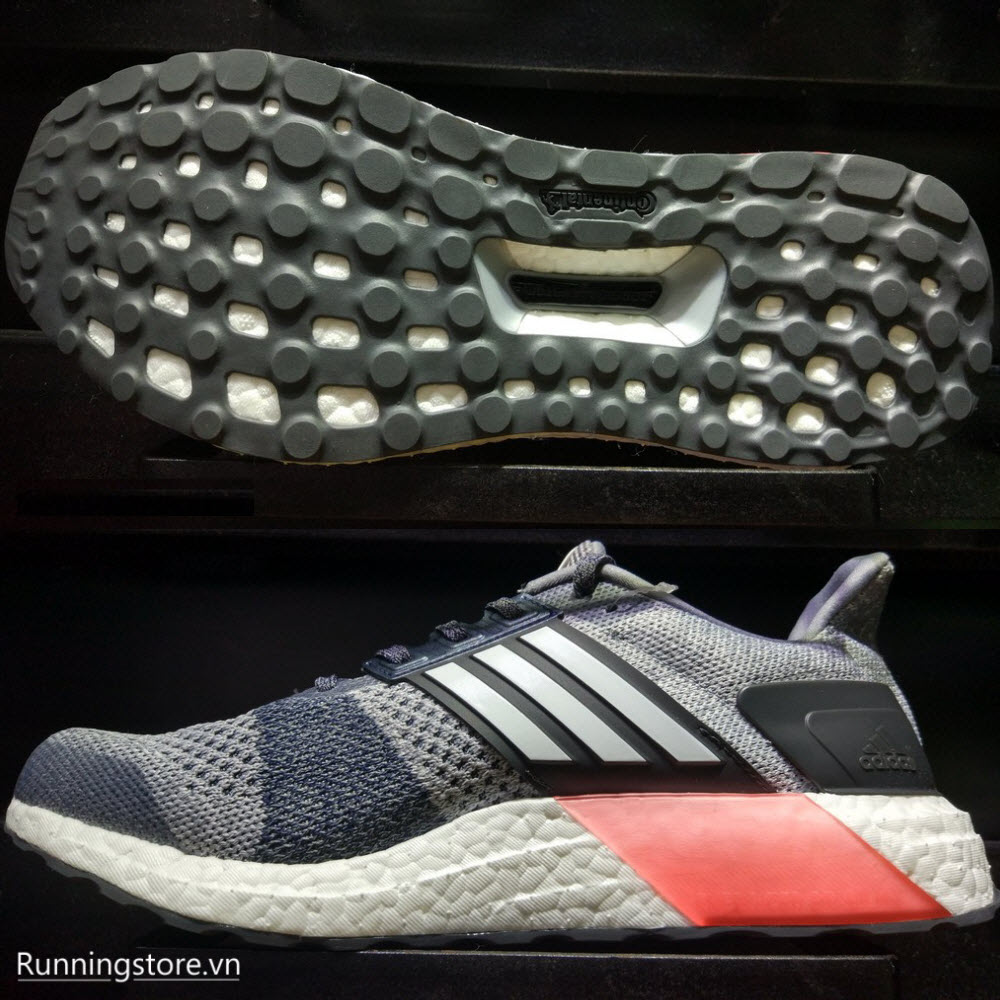 Adidas Ultraboost ST- Grey/ Footwear White/ Core Red BA7839
