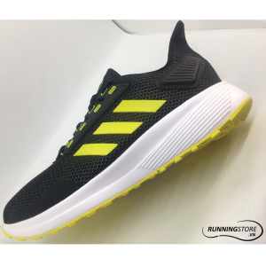 Adidas Duramo 9 - Core Black / Solar Yellow / Forward White - BB6905