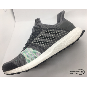 Adidas Ultra Boost ST- Core White/ Core Black/ Aero Green