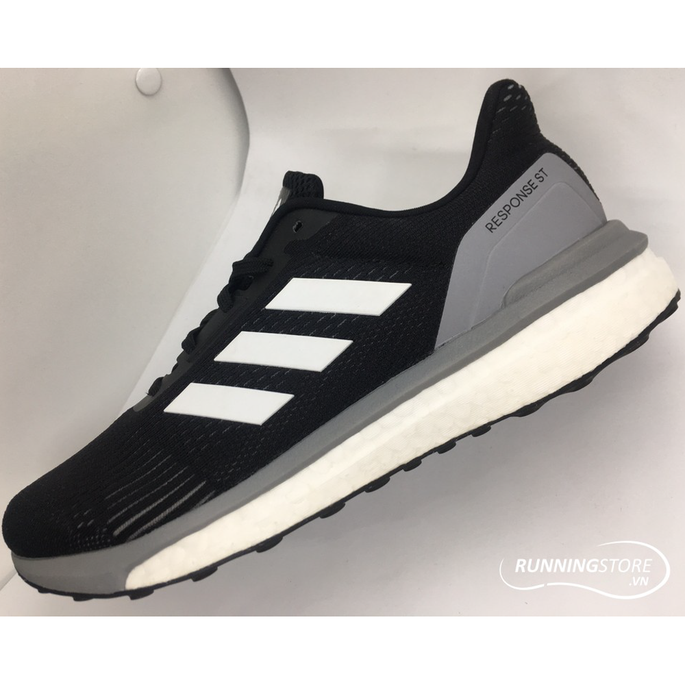 Adidas Response ST- Core Black/ Footwear White/ Grey Three