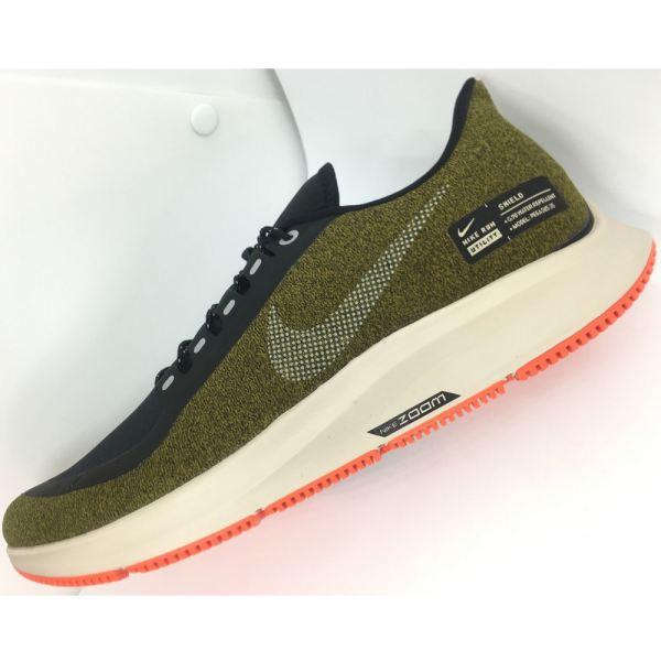 a207e4a5a6dbd Nike Air Zoom Pegasus 35 Shield- Olive Flak  Metallic Silver  Black String  AA1643