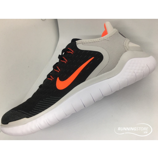 Nike Free RN 2018 - Black / Total Crimson / Vast Grey - 942836-005