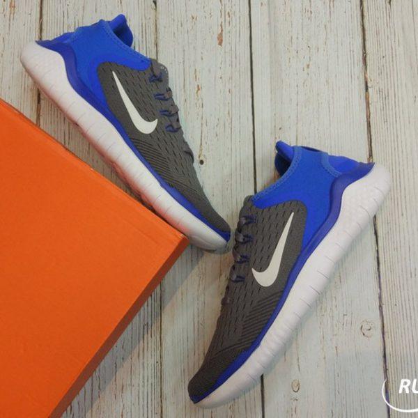 Nike Free RN 18- Nike Free RN 18 - Gun Smoke/White/ Signal Blue-942836-008