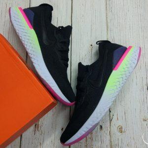 Nike Epic React Flyknit 2- Black/ Sapphire/ Hyper Pink BQ8928-003