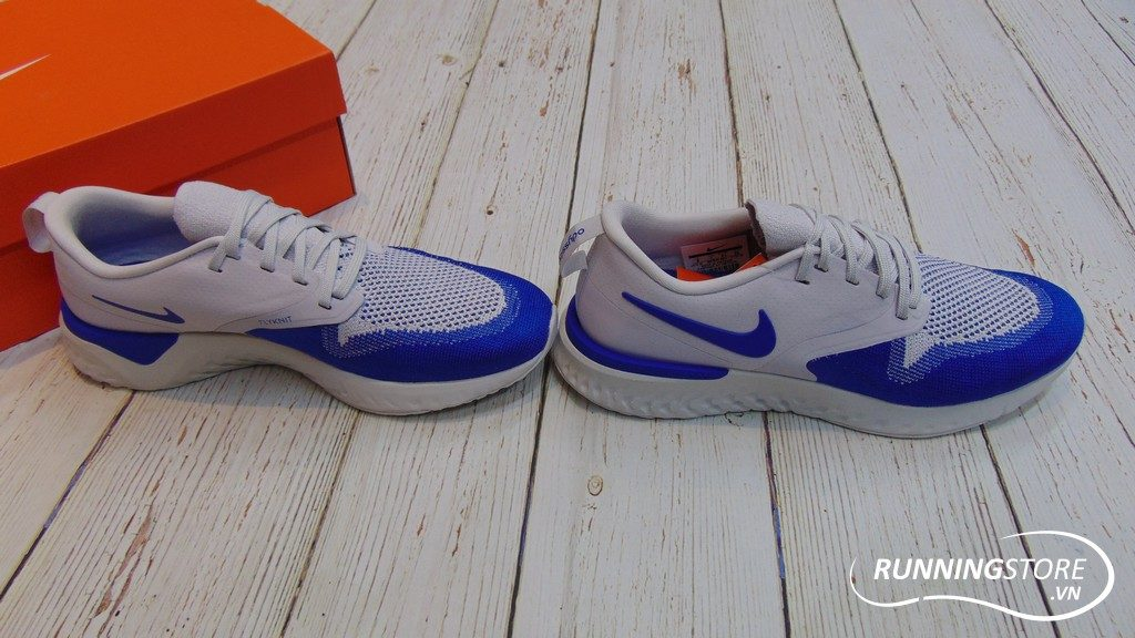 Nike Odyssey React Flyknit 2 - Vast Grey/ Game Royal/ Jeu Royal- AH1015-004