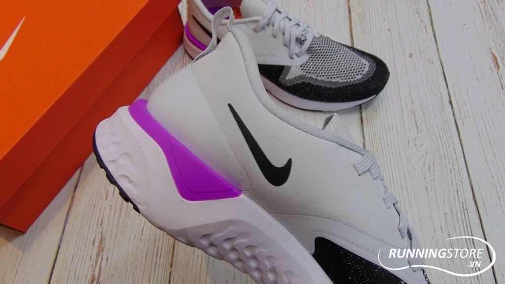 Nike Odyssey React Flyknit 2- Pure Platilum/ Black/ White- AH1015-009