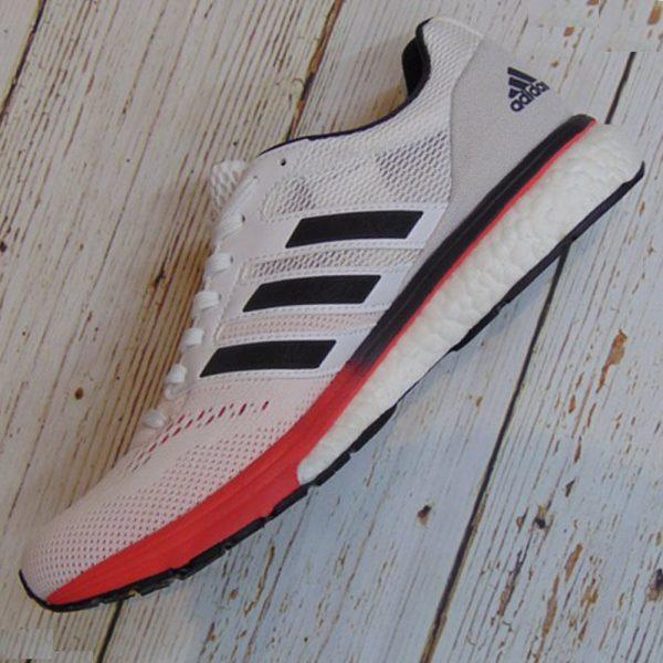 Adidas Adizero Boston 7 - Cloud White/ Carbon/ Shock Red- B37381