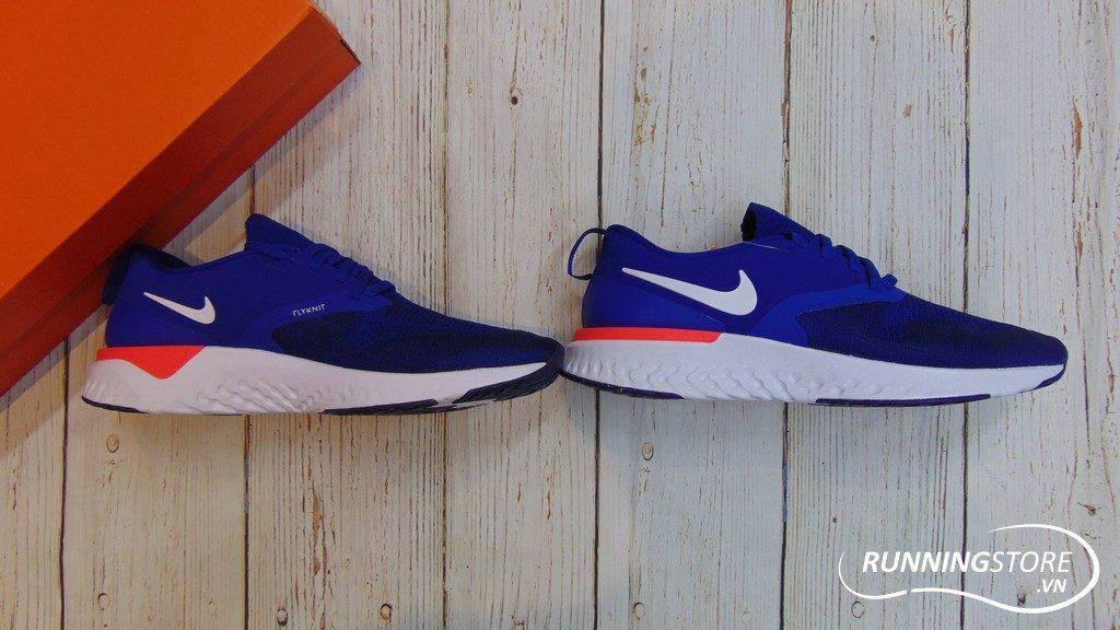 Nike Odyssey React Flyknit 2 - Indigo Force/ White/ Blue- AH1016-400