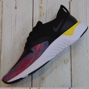 Nike Odyssey React Flyknit 2 - Black/Black/ University Red- AH1015-005