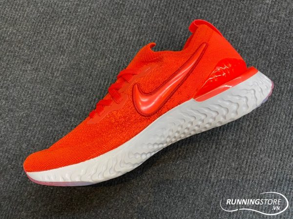 Nike Epic React Flyknit - Chile Red/Vast Grey/Black/Bright Crimson - BQ8928-601