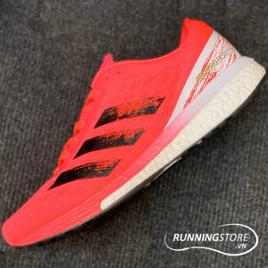 Adidas Adizero Boston 9 - Signal Pink / Core Black / Copper Metallic - EG4671
